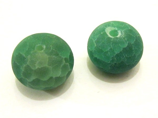 Crackle agate green rondelle