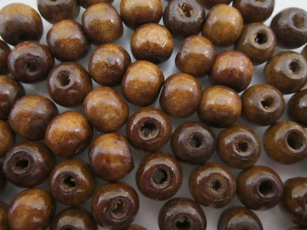 Wood bead brown (9x10)