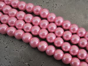 Glass pearl 10mm pink HL07