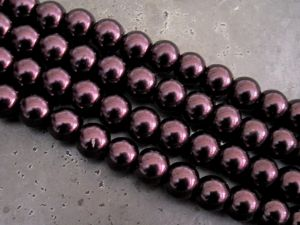 Glass pearl 8mm dark plum HL19