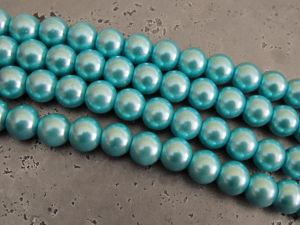 Glass pearl 10mm turquoise HL33
