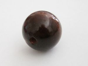 Wood bead brown (24mm)