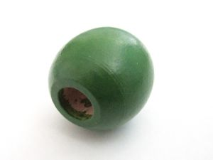 Wood bead green big hole (24mm)