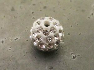 Pavé-bead clear (12mm)