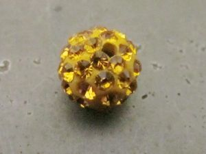 Pavé-bead golden
