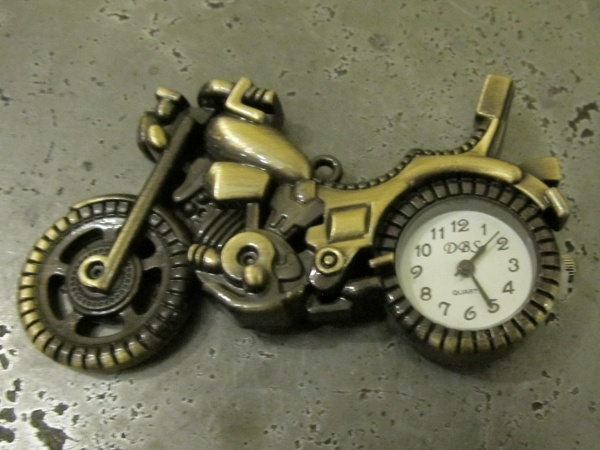 Clock motorcycle