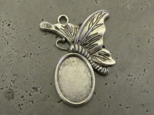 Pendant base butterfly (4pcs) S