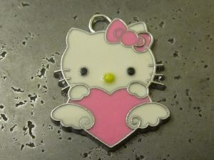 Pendant Hello Kitty with heart