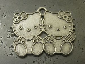 Pendant Hello Kitty twins