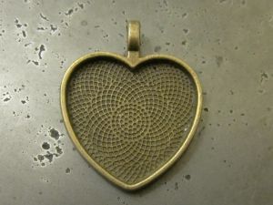 Pendant base heart AB