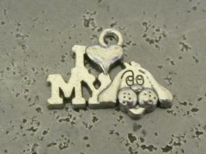 "Pendant ""I love my dog"" (8pcs)"