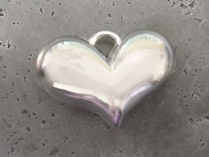 Copper coated bead heart wide CCB5014