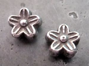 Copper coated bead small flower CCB2188