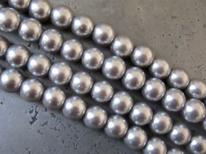 Glass pearl 10mm grey HL02