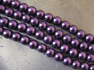 Glass Pearl 10mm dark lilac HL20