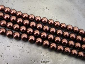 Glass Pearl 10mm brown HL18