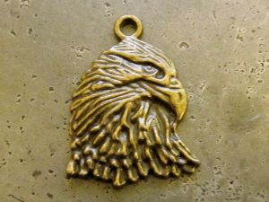 Pendant eagle´s head brass