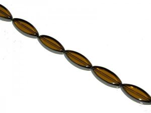 Glass bead plated oval JMG0048