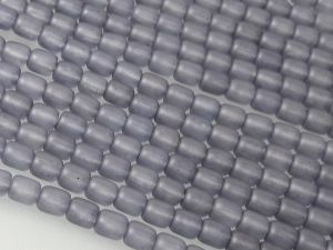 Czech glass bead grain matte grey (103 pcs)