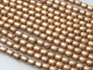 Czech glass bead grain matte gold (96 pcs)