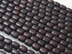 Czech glass bead grain matte dark plum (84 pcs)