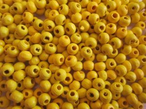 Wood bead yellow (5x6mm)