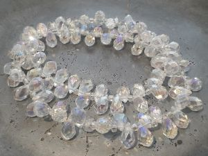 Crystal briolette AB-clear wholesale 100pcs
