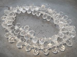 Crystal briolette clear wholesale 100pcs