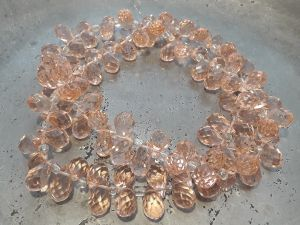 Crystal briolette peach wholesale 100pcs