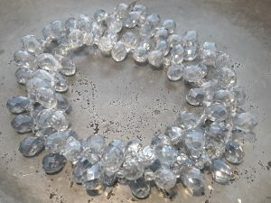 Crystal briolette light bluish grey wholesale 100pcs