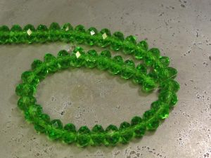 Crystal rondelle 4x6mm green KRR0053