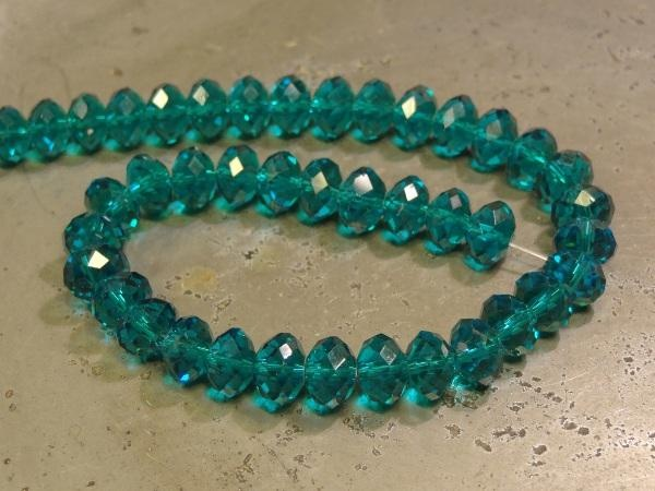 Crystal rondelle 4x6mm blue-green KRR0054