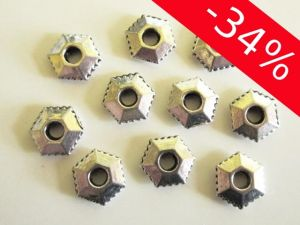 Spacer bead hexagonal JLF0187