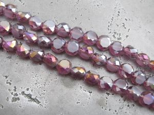 Crystal coin lilac AB (8mm)