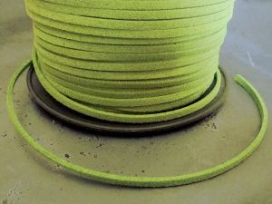Suede imitation ribbon lime