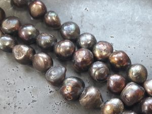 Freshwater pearl brownish grey (11mm) 34pcs