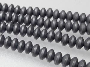 Hematite 4x2mm rondelle matte grey (176pcs)