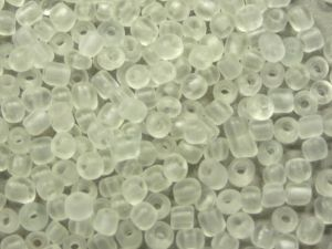 Glass seed bead 6/0 frosted clear