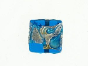 Foil bead 18x18mm (2pcs)