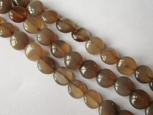 Agate brown coin 8mm