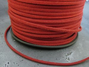 Suede imitation ribbon Red