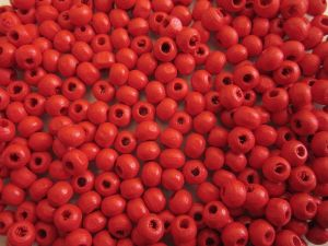 Wood bead red (5x6mm)