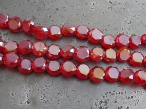 Crystal coin red AB (6mm)