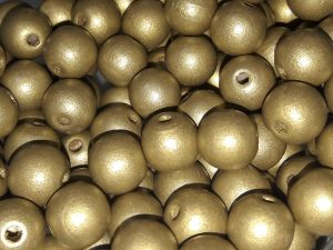 Czech Wood bead gold 10mm (50 pcs)