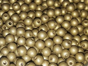 Czech Wood bead gold 6mm (120 pcs)