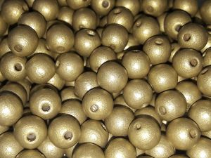 Czech Wood bead gold 8mm (75pcs)