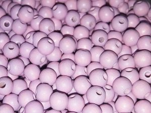 Czech Wood bead light lilac 6mm (120 pcs)