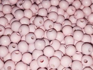Czech Wood bead light pink 6mm (120 pcs)