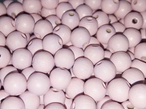 Czech Wood bead light pink 8mm (75pcs)