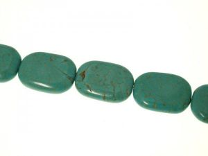Magnesite turquoise dyed 20,5x28mm rectangle